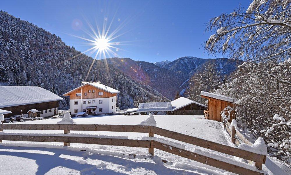 Vacanza invernale al maso in Alto Adige