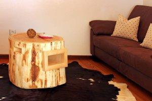 Apartment Birke - Wohnzimmer Tisch